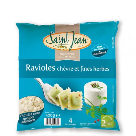 Ravioles chèvre & fines herbes surgelées - 500g