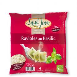 Ravioles au basilic surgelées - 500g