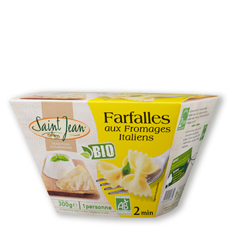 Box Farfalles aux Fromages Italiens BIO - 300g