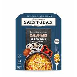 Pâtes Avoines, Calamars & Poivrons, au piment d'espelette / façon risotto