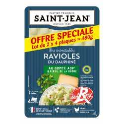 Ravioles du Dauphiné IGP / Label Rouge Lot de 2 x 4 plaques - 480g