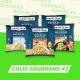 COLIS GOURMAND 2 : Comté 12 mois, Chèvre et Poêlée de Ravioles au Saumon